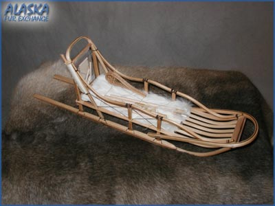 Alaska Gifts - Alaskan dogsled brass, Ivory and walnut